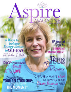 deb on aspire magazine cover
