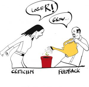 cartoon from Feedback First by Huibert Evekink
