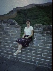 author bonnie leonard on great wall of china
