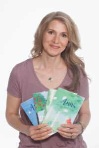 Stephanie with books and memoir