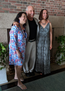 Authors Nancy Thayer, Bill Harley and Lynne Heinzmann. SC Women's Club Author Luncheon (July 10, 2019)