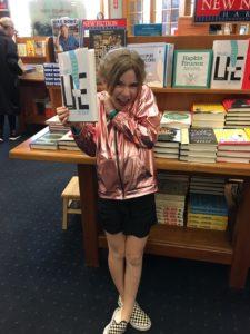 daughter in bookstore