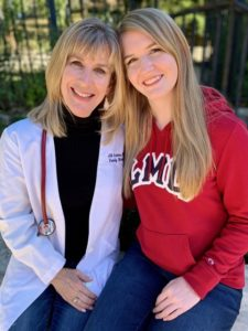 Jill Grimes, MD, author of The Ultimate College Student Health Handbook, with her daughter